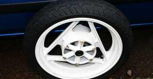 "Used, undamaged white 16"" front wheel - free to collector"