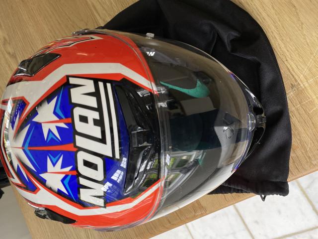 Casey Stoner replica carbon x802rr size xl nolan helmet 6