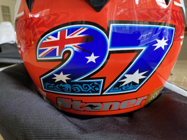 Casey Stoner replica carbon x802rr size xl nolan helmet 4