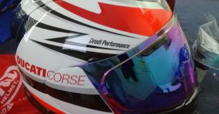 Ducati Arai Chaser V Theme Helmet Integral Helmet Helmet Black Red New size M
