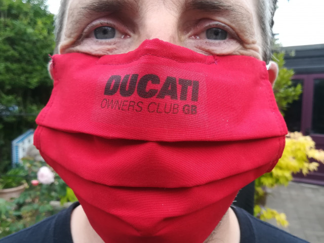 Face masks Ducati Owners Club GB 2