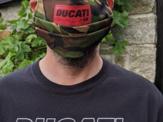 Face masks Ducati Owners Club GB 3
