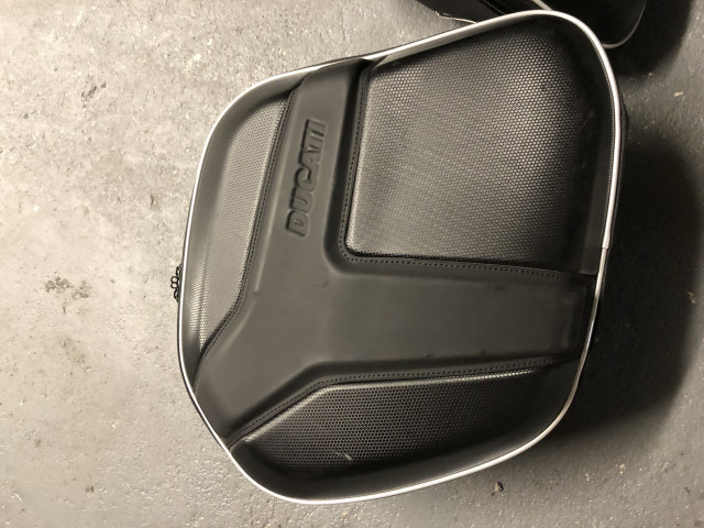 Ducati semi-rigid side panniers and rack for Monster 1200 4