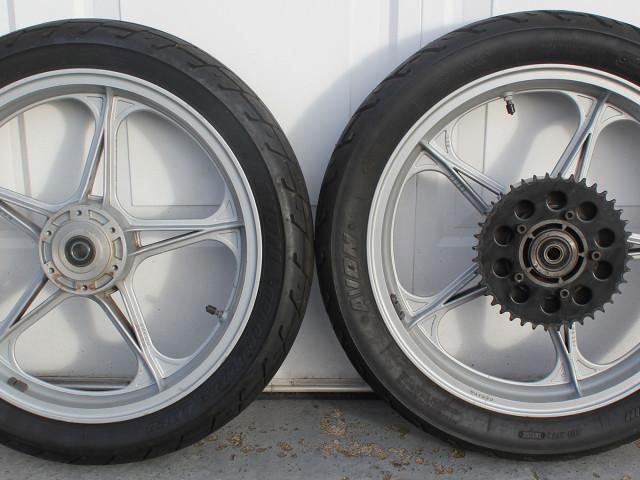 "Pair of Oscam Cagiva/Ducati bevel 2.15"" x 18"" wheels 0"