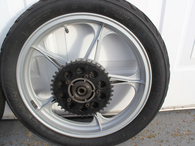 "Pair of Oscam Cagiva/Ducati bevel 2.15"" x 18"" wheels 5"
