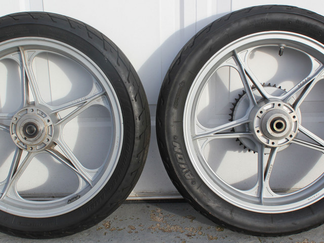 "Pair of Oscam Cagiva/Ducati bevel 2.15"" x 18"" wheels 8"