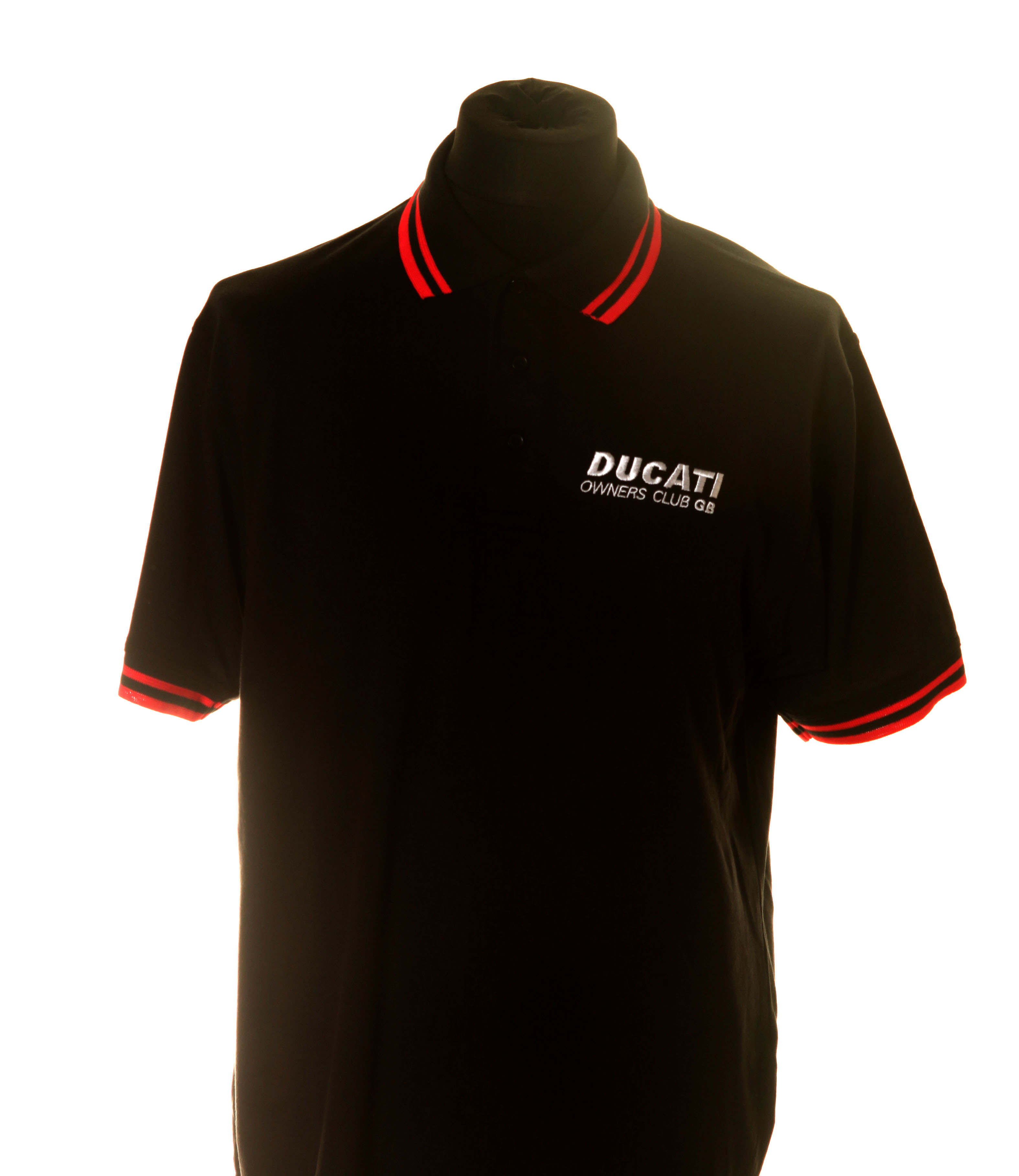 DOC GB Black/Red Adult Polo Shirt