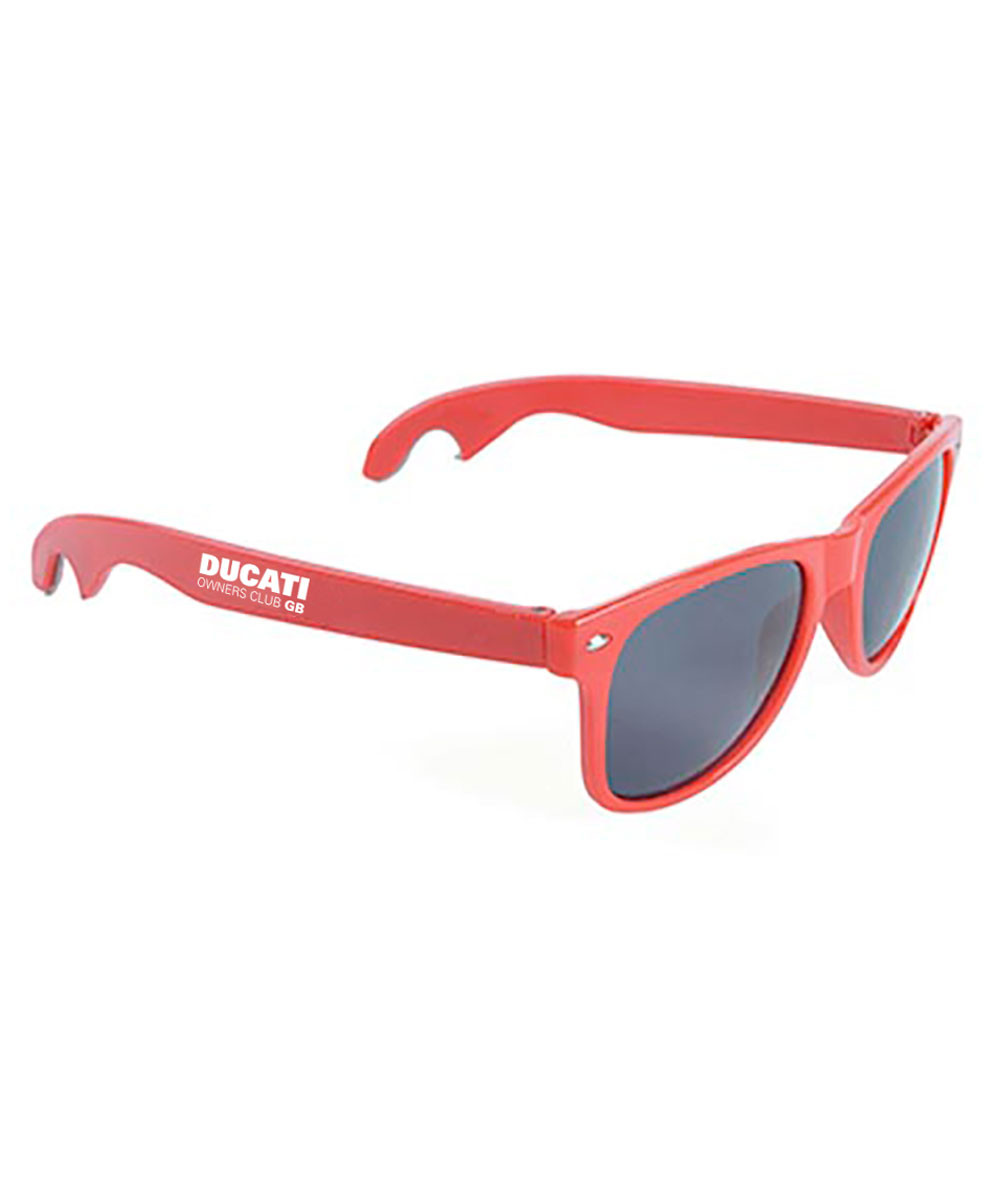 DOC GB Red Bottle opener sunglasses