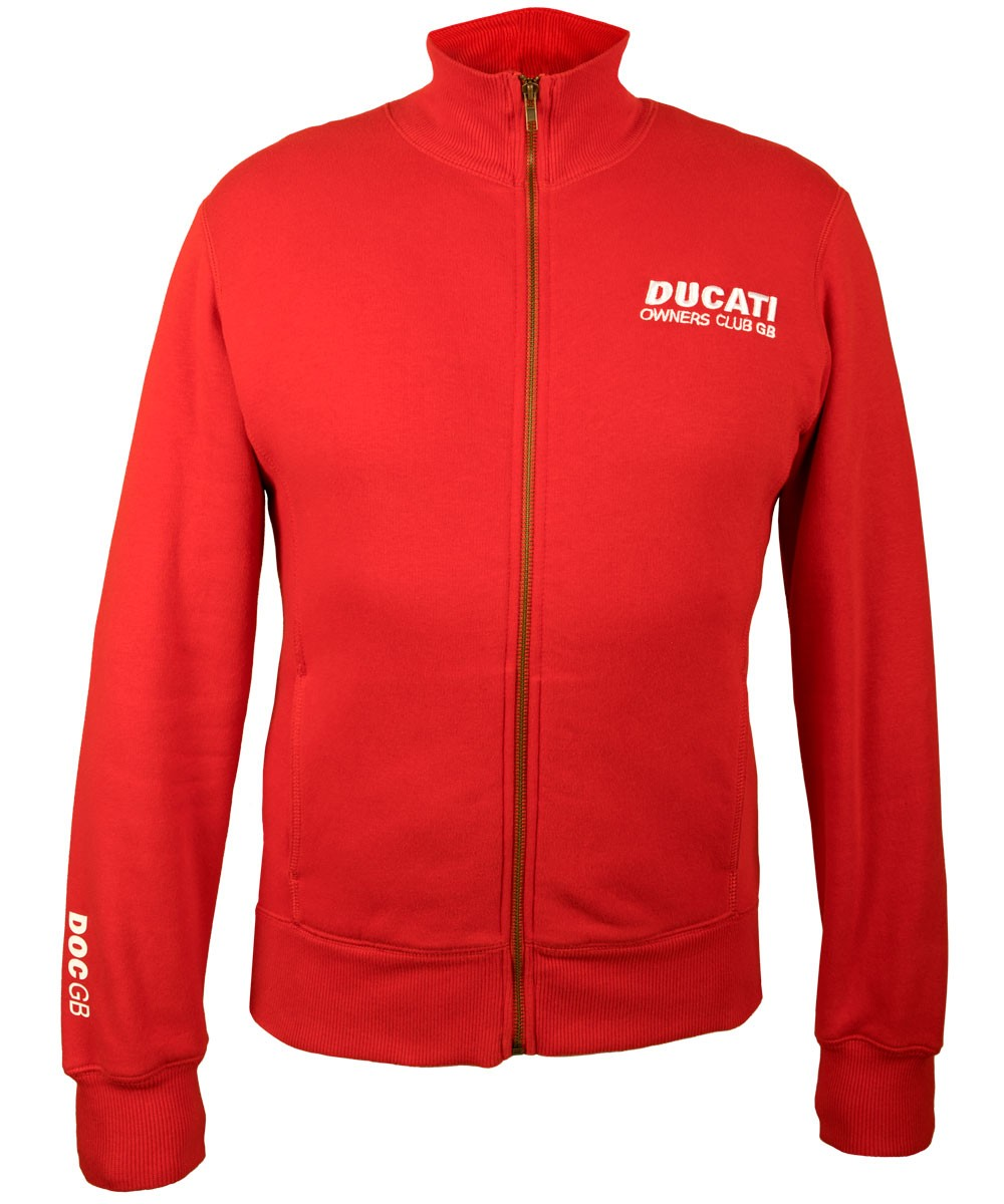 DOC GB Full-zip Sweatshirt red