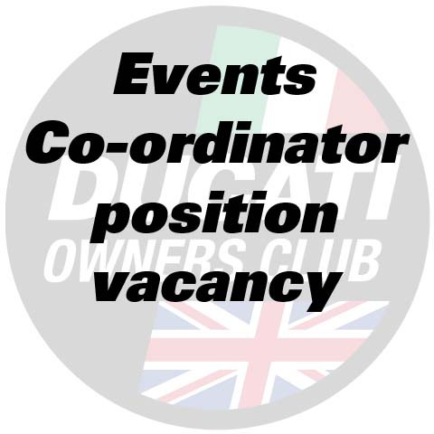 Events Co-ordinator Position Vacancy