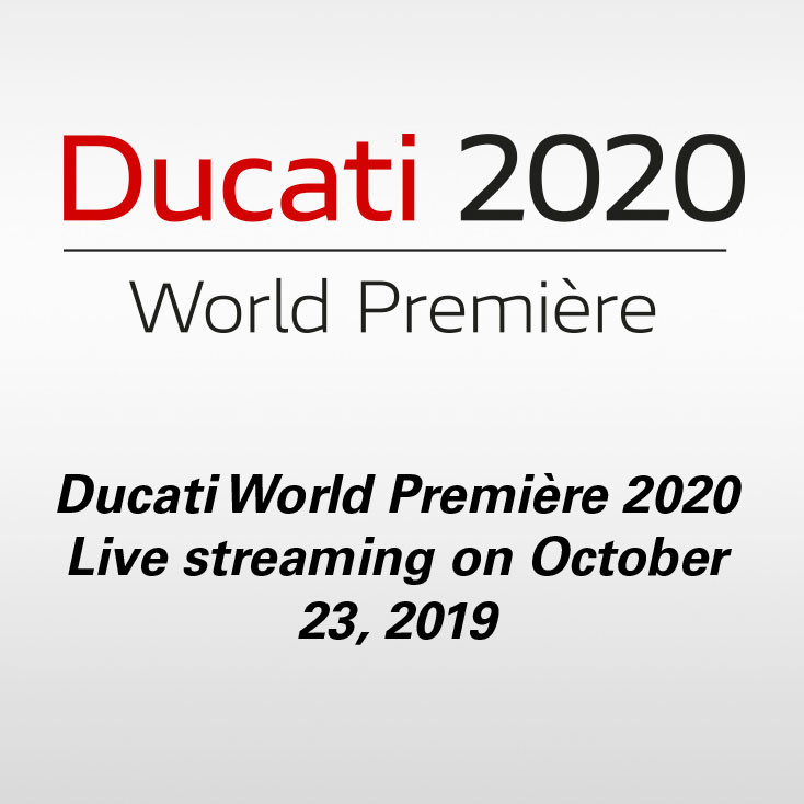 Ducati World Première 2020 Live streaming on October 23, 2019