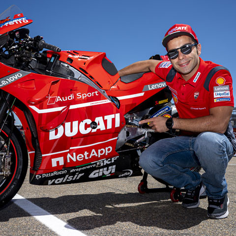 The Ducati Team and Danilo Petrucci together on track also in 2020