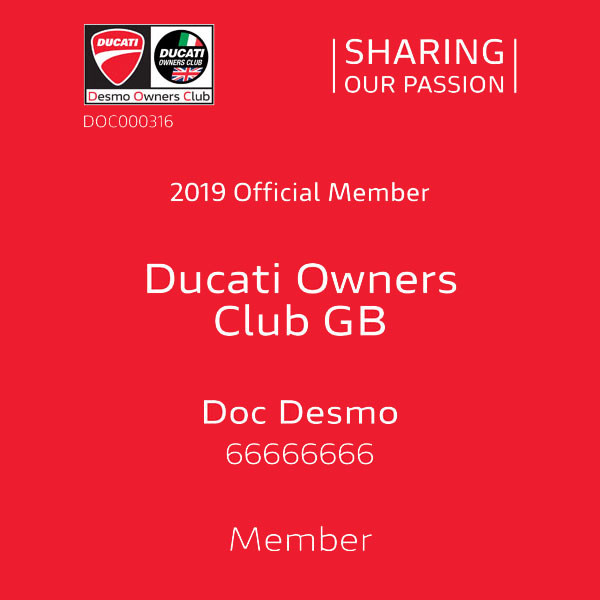 Ducati Desmo Owners Club 'Factory DOC' update October 2019