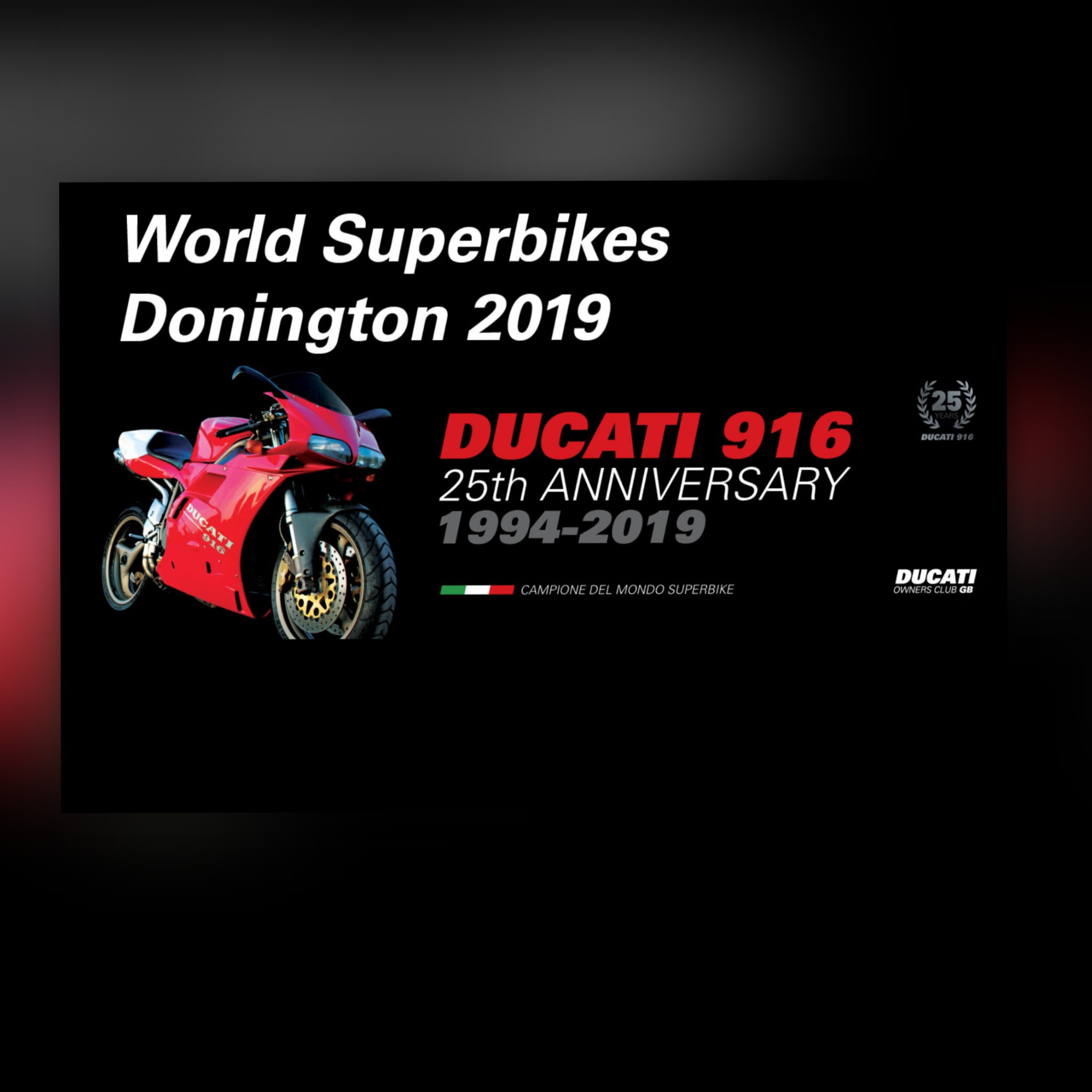 World Superbikes Donington 2019 - 916 25th Celebration
