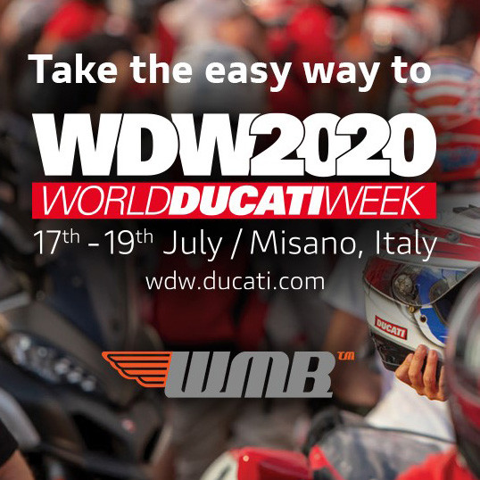 Ducati UK confirm UK travel support / logistics for World Ducati Week 2020