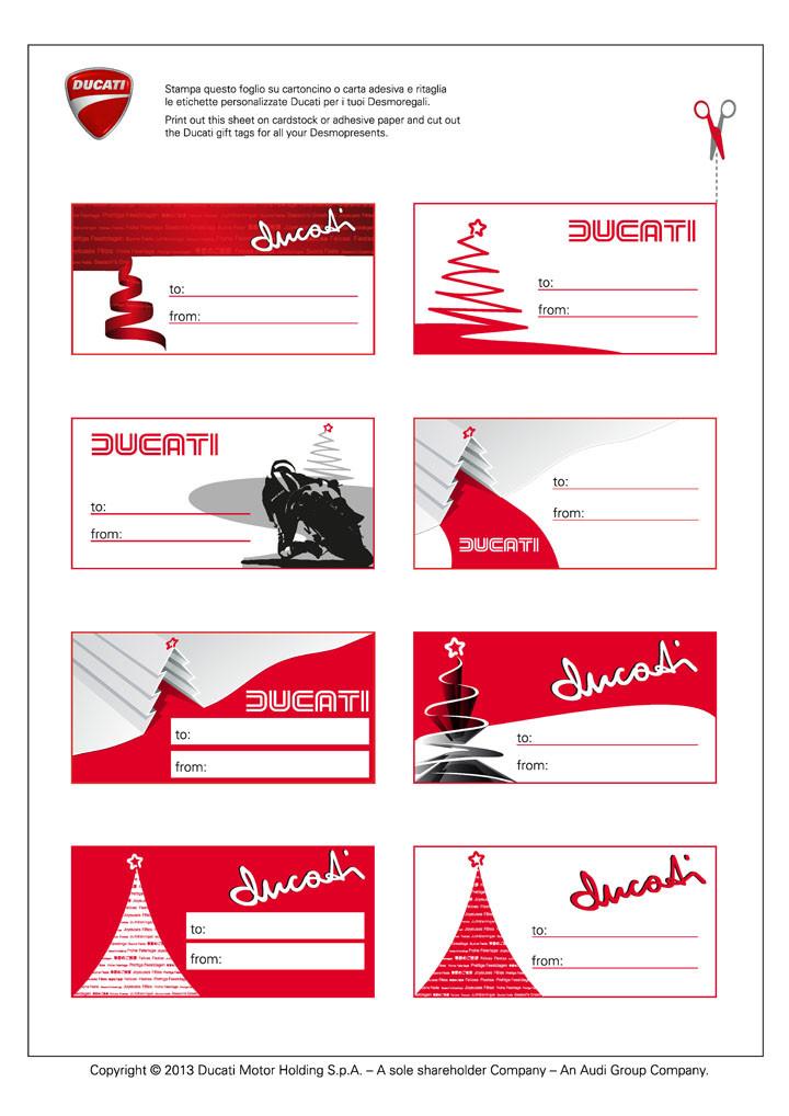 Ducati gift tags